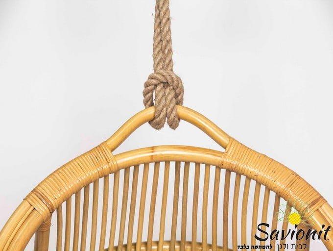 ערסל ישיבה מראטן טבעי דגם Charm