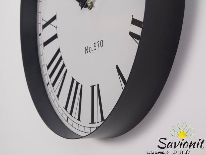 שעון קיר קוטר 40 צבע שחור