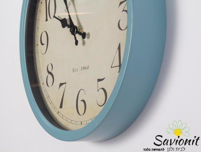 שעון קיר בצבע תכלת