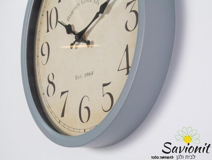 שעון קיר בצבע אפור