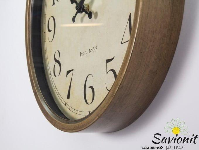 שעון קיר בצבע זהב ברונזה