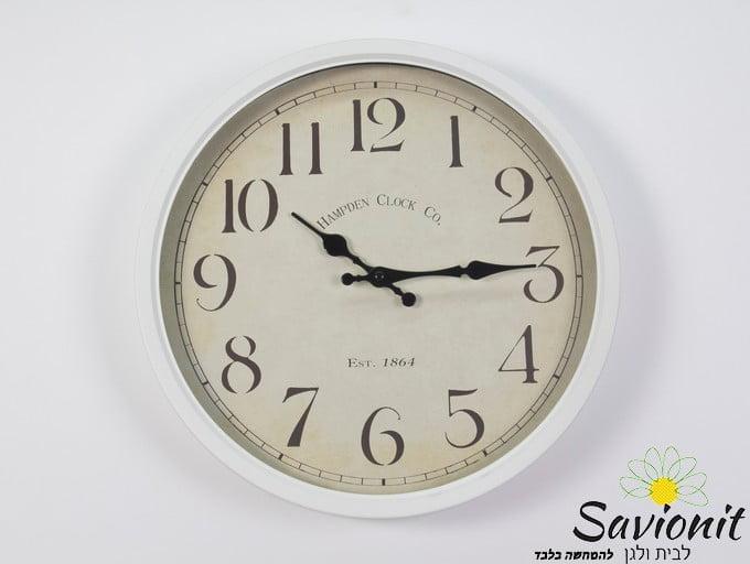 שעון קיר צבע לבן