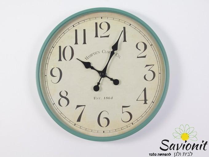 שעון קיר צבע מנטה