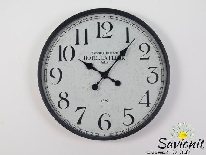 שעון קיר צבע שחור