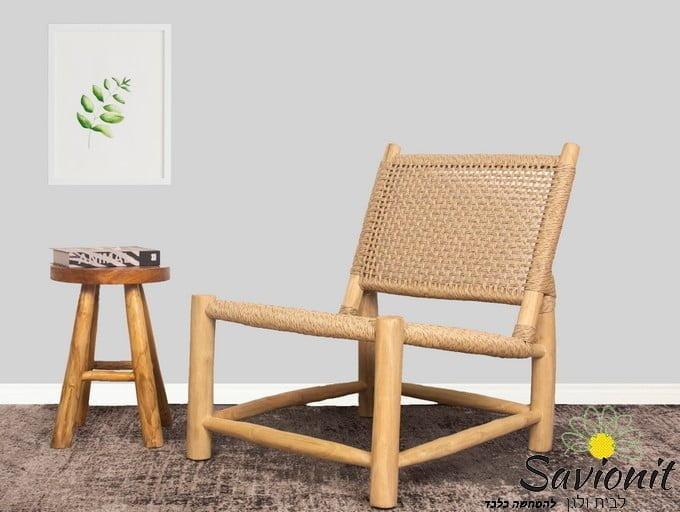 כורסא מעץ טיק דגם Puma