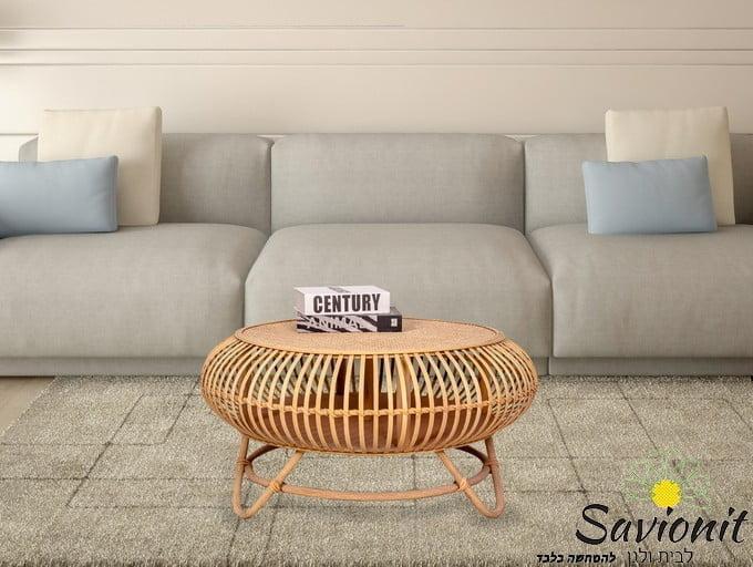 שולחן ראטן במבוק דגם Twist